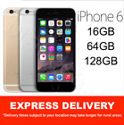 AS NEW iPHONE 6 16GB 64GB 128GB SPACE GREY GOLD SILVER EXPRESS UNLOCKED MR