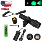 Zoomable 5000Lm GREEN/RED Q5 LED 18650 Flashlight Torch Gun Lamp+Pressure Switch