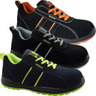 MENS LEATHER SUEDE SAFETY STEEL TOE CAP LIGHTWEIGHT WOMENS WORK SHOES TRAINERS
