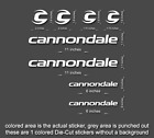 Cannondale Road, Mountain, Downhill Bike sticker/decal laptop, helmet, bicycle