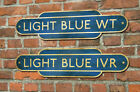Personalised Railway Totem Sign Train Station House Number Metal Sign Shabby !!