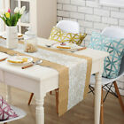 1/10pcs Hessian Burlap Lace Table Runner Weding Party Tea-time XMAS Home Decor