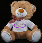 Personalised Teddy Bear 30cm Lovely Birthday Gift Boy or Girl Print Soft TEDDY 3