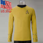 Star Trek Captain Kirk Shirt Uniform TOS The Original Series Yellow Costume New on eBay