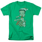 Betty Boop Christmas Present Pudgy Define Naughty Green Adult T-Shirt $20.3 CAD