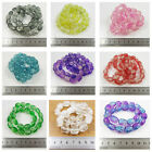 25 OVAL CRACKLE GLASS BEADS 16MM *23 COLOURS* JEWELLERY MAKING BEADING CRAFTS