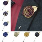 flower pins for suits - 2017 Handmade Rose Flower Boutonniere Brooch Lapel Pin Accessory for Men's Suit
