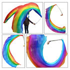 "1pc 2.7m*0.9m(9'x35"") light 5 Mommes belly dance silk veil poi, steel chains"