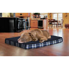 FurHaven Faux Sheepskin and Plaid Orthopedic Pet Bed