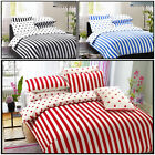 Printed Duvet Cover with Pillow Case Quilt Cover Bed Set Single Double King Size