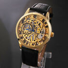New Classic Transparent Skeleton Men's Mechanical Analog Waterproof Wrist Watch