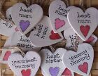 WOODEN HEART SIGN / PLAQUE .. YUMMY MUMMY AUNTIE SISTER ... SHABBY CHIC