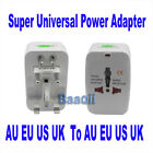 Travel Charger Convert AU/UK/US/EU World Useful Adapter Power Plug Universal WS