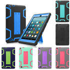 Hybrid Heavy Duty Protective Case for Amazon All-New Fire 7 Tablet 7th Gen 2017