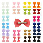 24pcs Hair Bows Band Boutique Alligator Clip Grosgrain Ribbon Girl Baby Kids lot