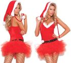 Santa's Sweetie Costume Tutu Dress Hat Belt Helper Christmas Holiday X-Mas