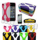 for iphone 4 4s hybrid soft and hard case 3D cool X design + screen protector