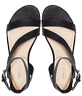 NEW JustFab Vedelia Black Womens Strappy Adjustable Sandals 7.5