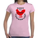 PERSONALISED CRAZY CHICKEN LADY Ladies 100%cotton crew neck short sleeve t shirt