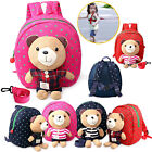 Kids Baby Toddler Cartoon Backpack Rucksack Safety Harness Strap Bag with Reins