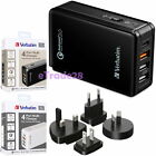 Verbatim 4 Ports Multi-Charger Type-C USB 3A Hub Quick Charge 3.0 Int'l Adapters
