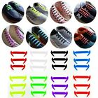 12pcs/set facile chiusura colorati elastico NO CRAVATTA SILICONE lacci Lazy