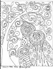 RUG HOOKING CRAFT PAPER PATTERN Owls and Tree FOLK ART PRIMITIVE Karla Gerard