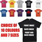 Personalised Custom Printed T-Shirt, Your Design, Custom Image and Text Gift Top