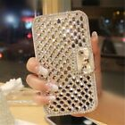 For Samsung Note 8 Bling Diamond Rhinestone Bowknot Card Flip Leather Case Cover