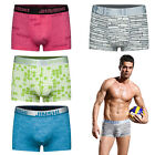 4 PCS Men's Underwear Stretch Waistband Boxer Brief Printed Underpant