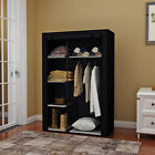 New 63' Portable Closet Storage Organizer Wardrobe Clothes Rack with Shelves
