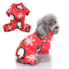 PUPPY DOG PET SOFT CHRISTMAS PENGUIN PAJAMAS COSTUME CLOTHES GIFT GROOVY