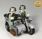 WW2 minifigure German Wehrmacht American British soldier diorama+lego motorcycle