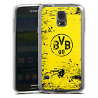 Samsung Galaxy S Modelle Silikon Case Hülle transparent - BVB Destroyed Look