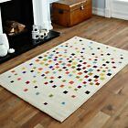 IVORY MULTI COLOUR PIXEL SOFT MODERN SMALL 60X120CM  BEST QUALITY RUG SALE