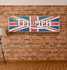 TRIUMPH Motorcycles Vinyl Banner Sign Garage Workshop Adversting Poster $32.99 USD on eBay
