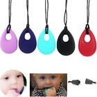 Teardrop Pendant Baby Teething Necklace Silicon Teether Autism Sensory Chew Toys