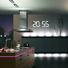 LED Digital Wall Clock Remote Alarm Watch Timer Countdown Thermometer Home Decor