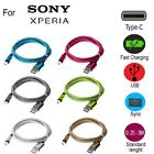 Braided USB Type-C USB-C Type C Charger Charging Cable for Sony Xperia XZ