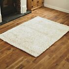 FEATHER STYLE LARGE MEDIUM SMALL CREAM 4CM THICK PILE HIGH QUALITY MODERN RUG