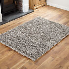 HIGH QUALITY GREY FEATHER STYLE LARGE MEDIUM SMALL 4CM THICK PILE MODERN RUG