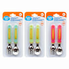Baby Life Stainless Steel 2pc Cutlery Set Spoon Fork Flatware Utensils Ages 12m+