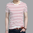 Fashion Men O Neck Short Sleeve Striped T-Shirt 2017 Summer Round Neck T Shirts
