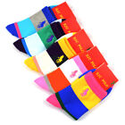 HJC POLO Fashion Women Girls Casual Sports Socks Striped Cotton Dress 5/10 Pairs
