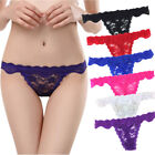 3 6 12 Pcs Lot Women's Sexy Hot Lace Thongs Panties Fashion Everyday Underwear