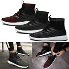 Men's Male High Top Shoes Boot Fashion Snearker Light Cloth Uppers Rubber Sole
