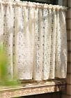 Cream Gorgeous cotton Kitchen Lace Sheer Curtain Cafe Curtain 16032106