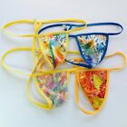 K799 P Mens Sexy String Thong Pouch String Triangle Back Feather Floral prints