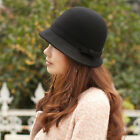 Women's Fashion Hat Wool Dress Church Cloche Hat Bucket Winter Floral Hat