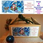 Personalised Childrens Christmas Eve Gift Kraft Box Xmas Present Party Favour
